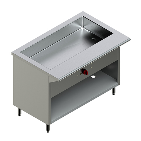 48″ Steam Table Nat Gas