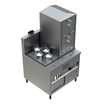 42″ Dim-Sum & Seafood Steamer Range w/ Automatic Water Fill