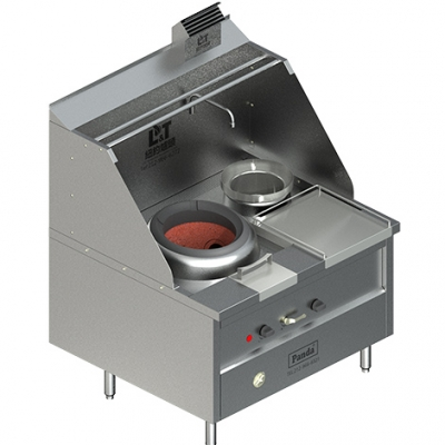 Single Chamber Blower Chinese Gas Wok Range and Soup Pot, NSF