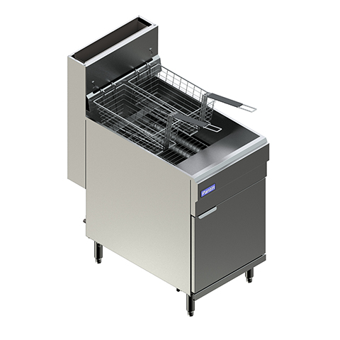Natural Gas Floor Fryer w/ Five-Tube & Two-Twin Baskets