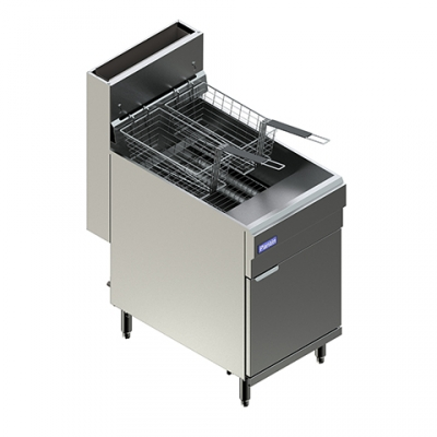 Liquid Propane Floor Fryer w/ Five-Tube & Two-Twin Baskets