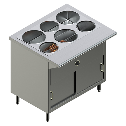 36″ Electric Steam Table