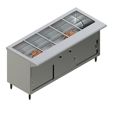 60″ Electric Steam Table
