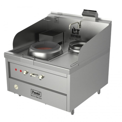 Single Chamber Natural Gas Hong Kong Style Blower Wok Range and Soup Pot – 119,400 BTU, NSF, MEA