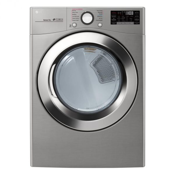 7.4 cu. ft. Smart Stackable Front Load Electric Dryer with TurboSteam, Sensor Dry, Pedestal Compatible in Graphite Steel