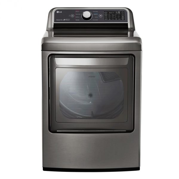 7.3 cu. ft. Large Smart Front Load Electric Vented Dryer with EasyLoad Door & Sensor Dry in Graphite Steel, ENERGY STAR